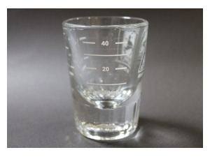 �y�G�X�v���b�\�T�v���C�z2 ounce ES Logo Shot Glass 02169
