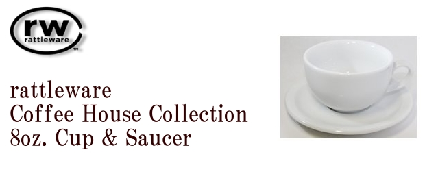 attleware Coffee House Collection 8oz. & Saucer