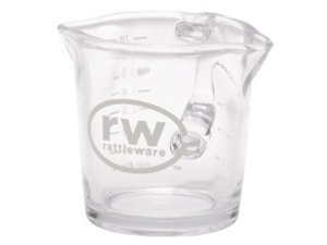 3oz.ES Logo Spouted Shot Glass with Handle 27610